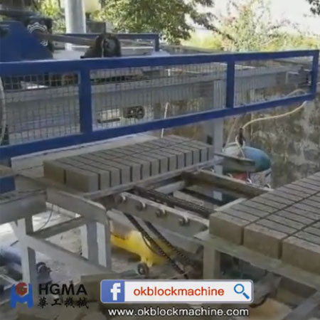 cement brick palletizer brick stracker