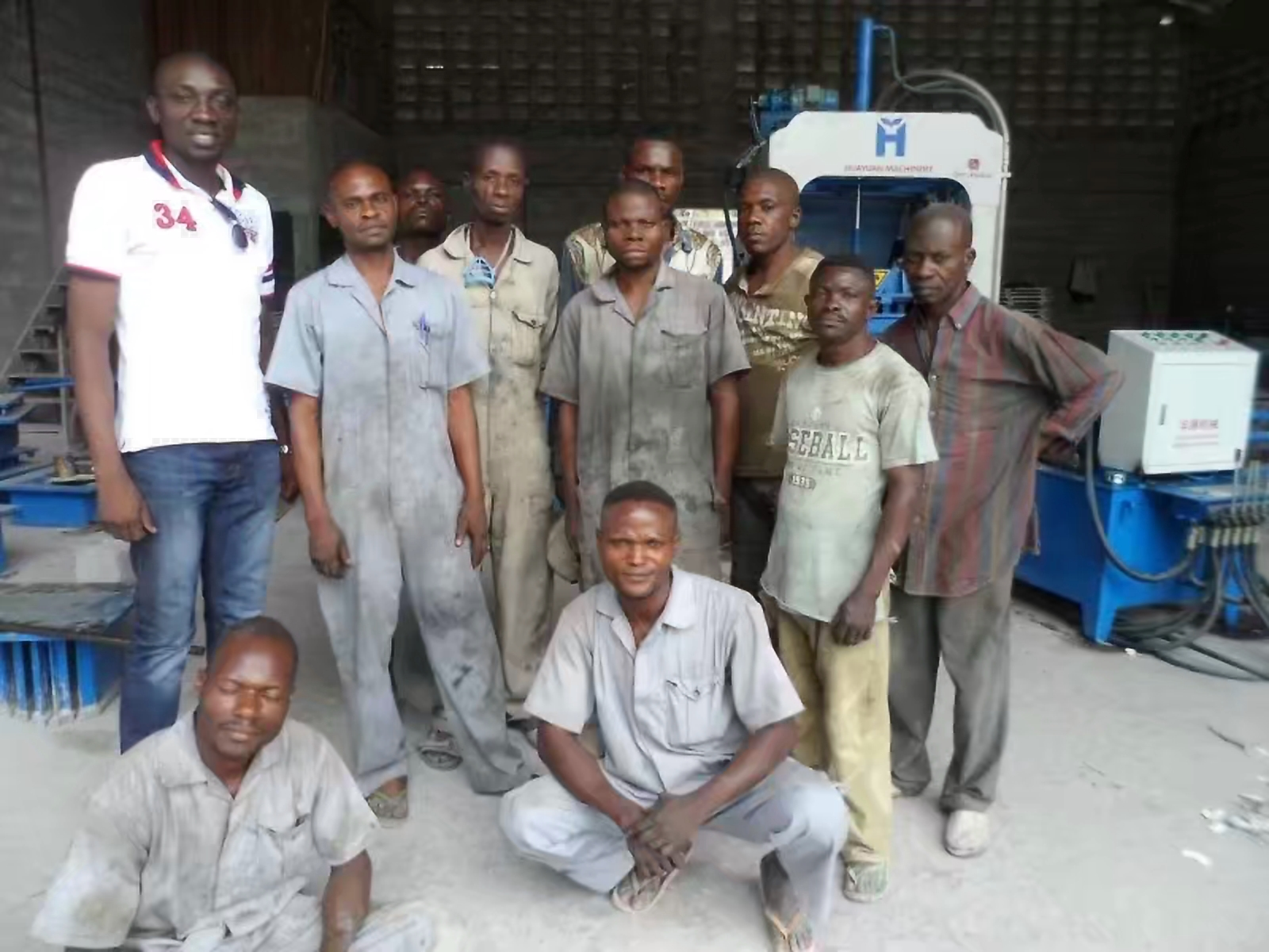 HGMA block making machine in africa